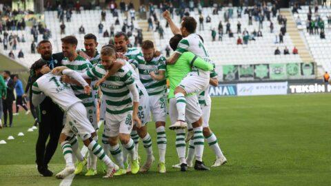 Konyaspor 5 hafta sonra 3 puanı kaptı