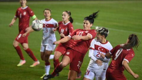 A Milli Kadın Futbol Takımı, Sırbistan'a mağlup oldu