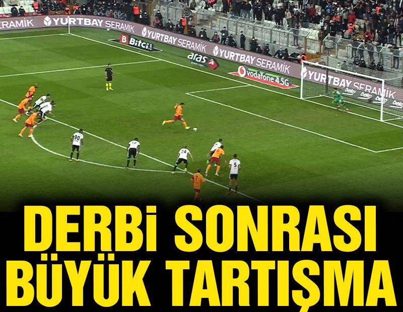 Beşiktaş-Galatasaray maçında penaltı tartışması! Ersin kurtardı ama…
