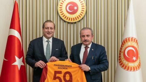 Burak Elmas, TBMM Başkanı Mustafa Şentop'u ziyaret etti
